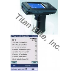 AT870 Barcode Reader PDA + 27-Point Vehicle Inspection Software