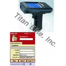 AT870 Barcode Reader PDA + Medical Equipment Tracking Software